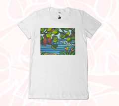 White - front view of Love Birds Women's Tee