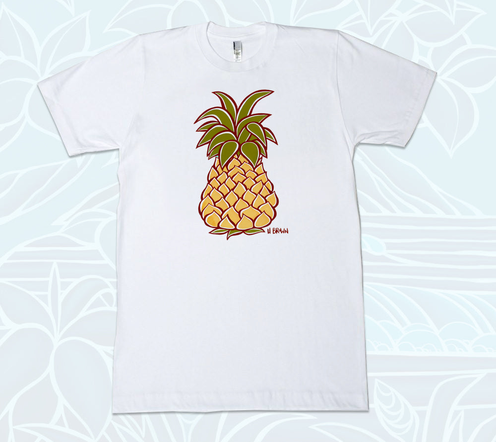 Pineapple T-Shirt by tropical Hawaii artist Heather Brown