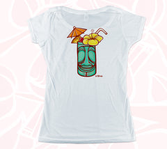 Aloha & Tiki Mug Double-sided Women's Scoop Tee
