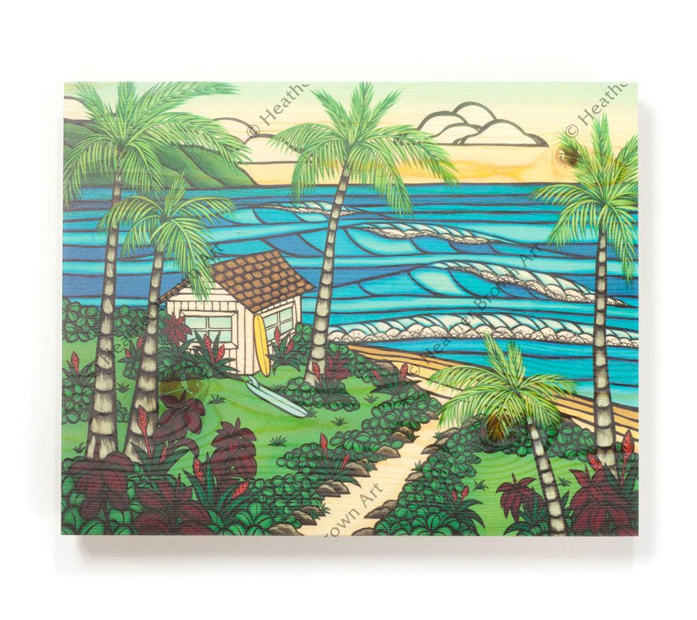 Hawaii Hale - Open Edition Wood Panel Print by Heather Brown
