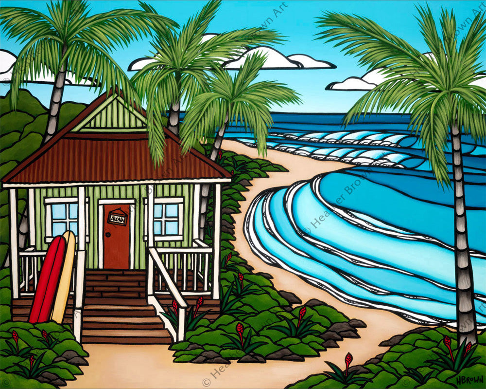 Hawaii Bungalow by Heather Brown - A beautiful little beach shack on the North Shore of O'ahu.