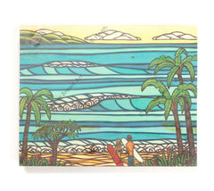 Hawaiian Holiday - Open Edition Wood Panel Print by Heather Brown