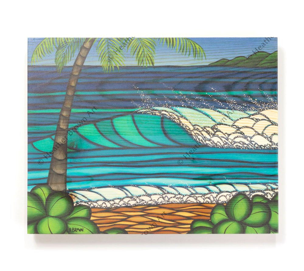 Hawaiian Winter - Open Edition Wood Panel Print by Heather Brown