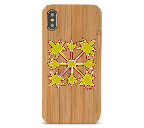 Hawaiian Quilt Bamboo iPhone 8/X Cases