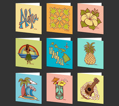 Hawaiian Quilt Greeting Card