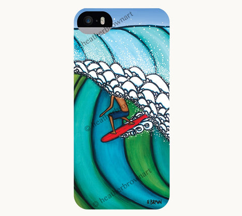 Double Overhead - Mens Wave iPhone case by Hawaiian artist Heather Brown