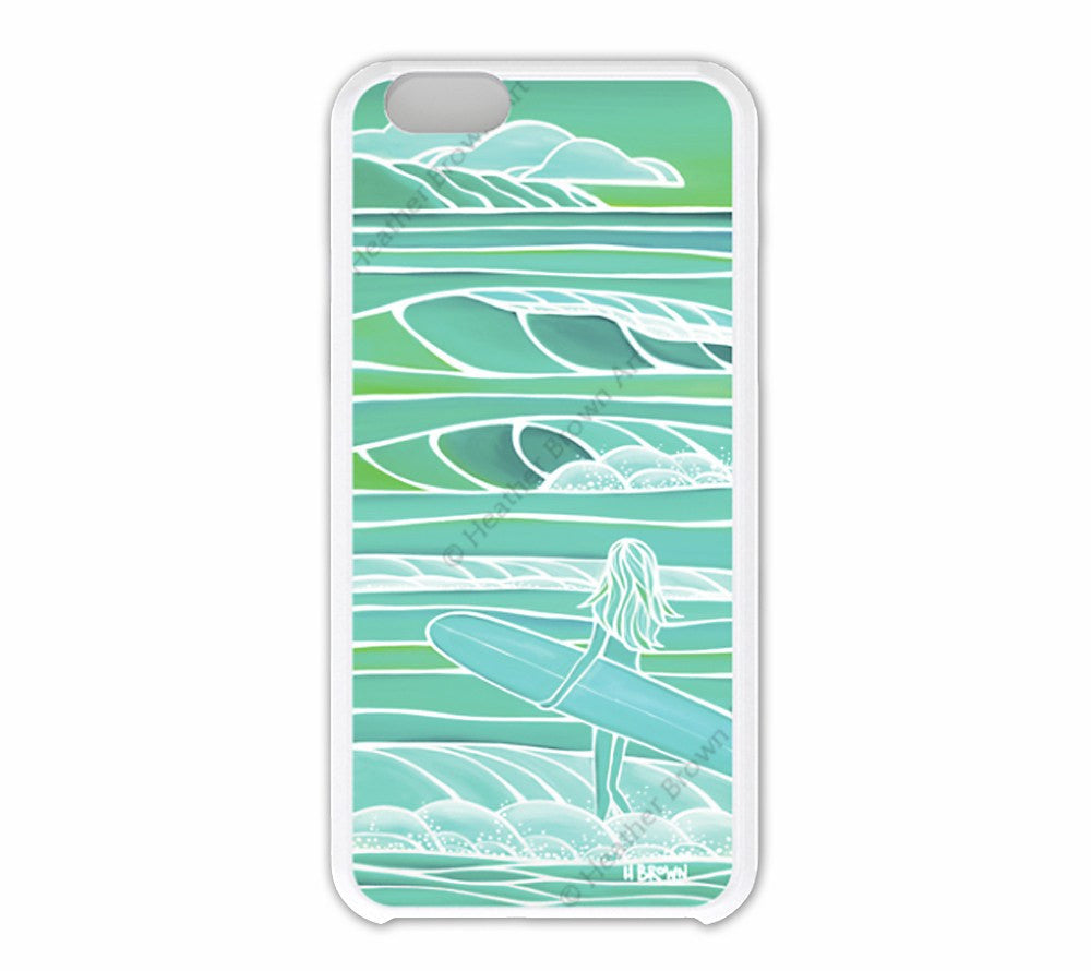Spring Swell iPhone Case by Hawaii surf artist Heather Brown