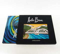 "The Art of Heather Brown - Complimentary Limited Edition Canvas print of ""Anahulu Bridge"" inset into front slip cover"