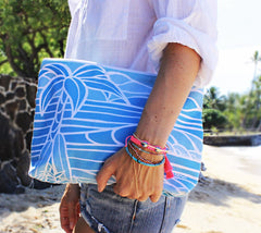 Travel Clutch with Shades of Hawaii Artwork by Heather Brown