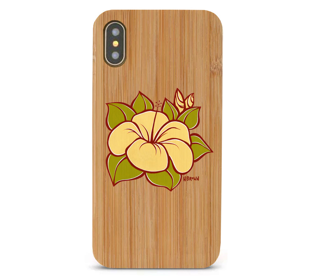 Hibiscus Bamboo iPhone 8/X Cases