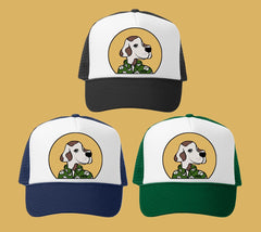 Hoku Humane Society Trucker Hat by Hawaii artist Heather Brown