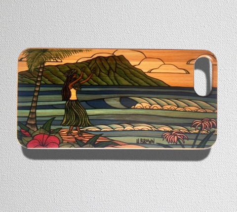 This durable, limited release iPhone case features a hula girl dancing in front of the famous Diamond Head Crater on Oahu, Hawaii.