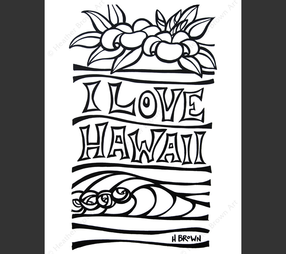 Printable Hawaiian Coloring Pages - Coloring Home | 854x960