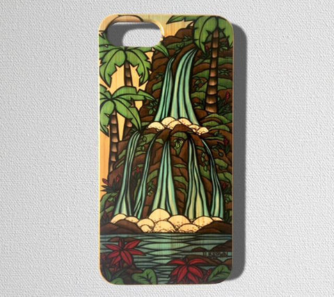 This durable, limited release iPhone case features a beautiful tropical waterfall from the Hawaiian Islands.