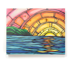 Juicy Sunset - Open Edition Wood Panel Print by Heather Brown