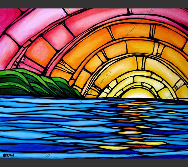 Juicy Sunset Products Heather Brown Art