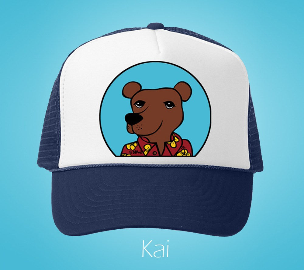 Kai Humane Society Trucker Hat by Hawaii artist Heather Brown