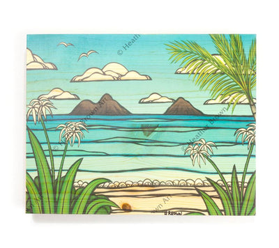 Kailua Weekend - Open Edition Wood Panel Print by Heather Brown