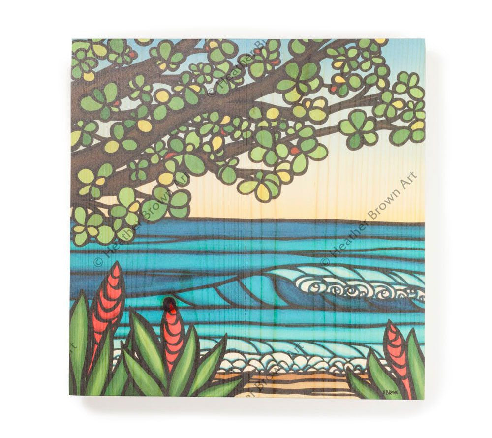 Kamane Sunset - Open Edition Wood Panel Print by Heather Brown