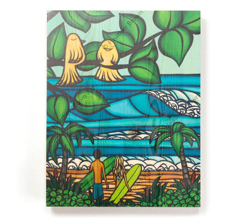 Ku'uipo's - Open Edition Wood Panel Print by Heather Brown