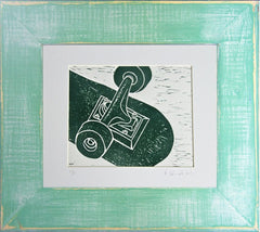 Skateboard Study Limited Edition Linocut Print