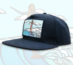 Lady Slide Patch Hat by Hawaii artist Heather Brown