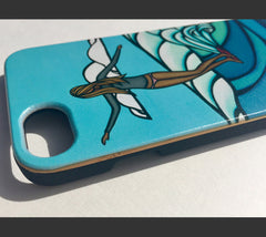 Side detail of this stylish iPhone case.