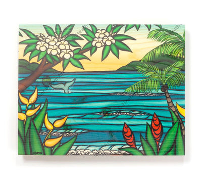 Lahaina Shores - Open Edition Wood Panel Print by Heather Brown
