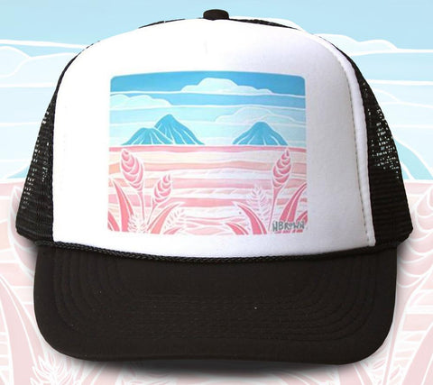 Lanikai Holiday Trucker Hat by Heather Brown Art