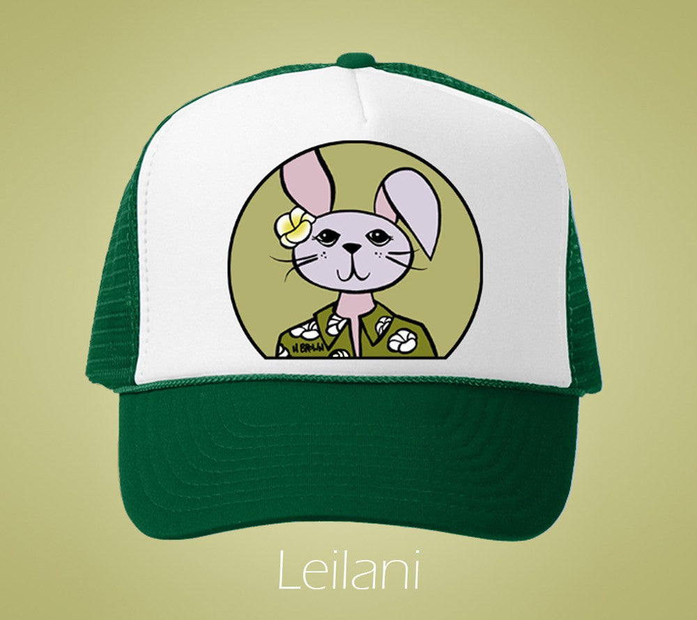 Leilani Humane Society Trucker Hat by Hawaii artist Heather Brown