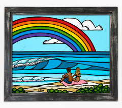 "Classic Black Frame - ""Love Under the Rainbow"" by Heather Brown"