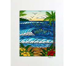 A Day in Paradise - Matted Print by Heather Brown
