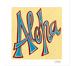 Aloha - Matted Print by Heather Brown