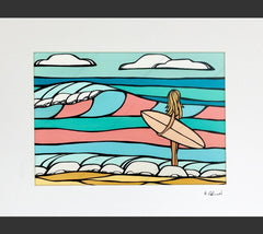 Candy Surf - Matted Print by Heather Brown