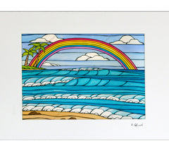 Daydream Rainbow Matted Print by Heather Brown