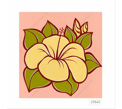 Hibiscus - Matted Print by Heather Brown