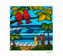 Island Sweethearts - Matted Print by Heather Brown