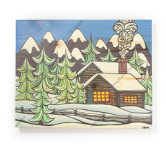 Mountain Retreat - Open Edition Wood Panel Print by Heather Brown