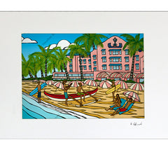 Royal Hawaiian - Matted Print by Heather Brown