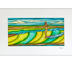 Weekend Slide - Matted Print by Heather Brown