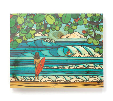 North Shore Holiday - Open Edition Wood Panel Print by Heather Brown