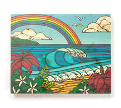 North Shore Rainbow - Open Edition Wood Panel Print by Heather Brown