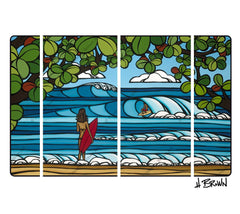 North Shore Holiday artwork by Hawaii artist Heather Brown