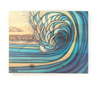 Outer Reef - Open Edition Wood Panel Print by Heather Brown