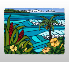 Paradise Found - Deckled Paper Print by Heather Brown