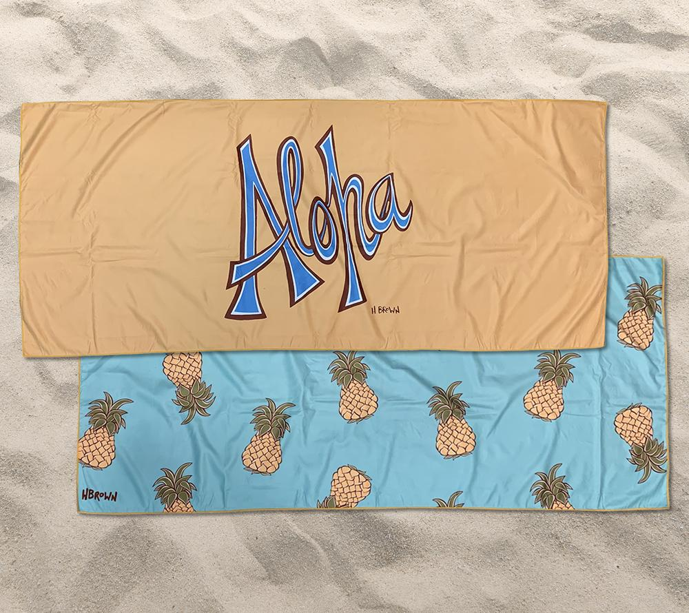 Pineapple Aloha Beach Towel