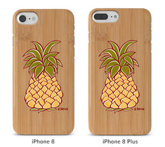 Pineapple Bamboo iPhone 8/X Cases