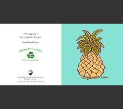 Detail - Pineapple Greeting Card by Heather Brown