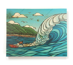 Pipeline Style - Open Edition Wood Panel Print by Heather Brown