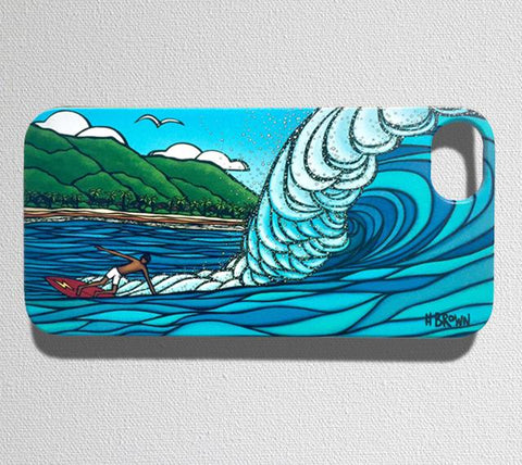 This durable, limited release iPhone 7 case features Gerry Lopez catching an epic wave at the famous Pipeline surf break in Hawaii.